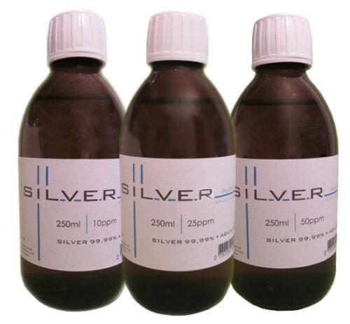Argent Colloïdal 10-25-50ppm 100 ml